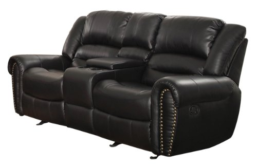Homelegance Center Hill 83' Bonded Leather Double Glider Reclining...