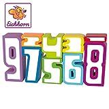 Eichhorn 100003409 - Rechenbausteine aus Holz, Zahlen in unterschiedlichen Größen, Rechenhilfe, 9-tlg., Birkenholz