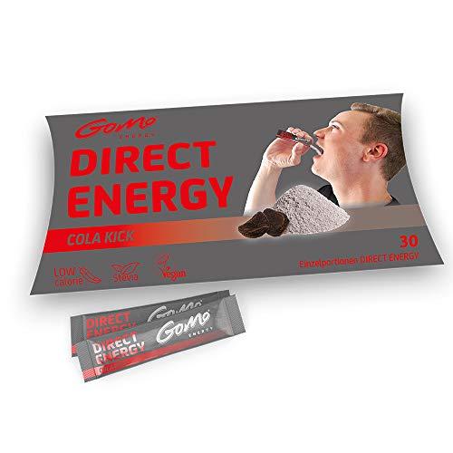 GoMo ENERGY® COLA KICK Energy vitaminepoeder │Extra Sterk voor een snelle toename van alertheid, focus en concentratie|+ 80mg Cafeïne + 1000mg Taurine + B-Vitaminen | Stevia gezoet | 30 Enkele porties