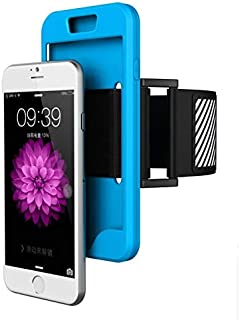 Margoun Sports Running Silicone Armband Case Cover With Reflective Easy Fit Band For Iphone 6 Plus - Blue