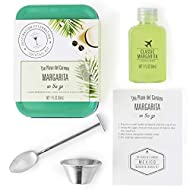 Thoughtfully Gifts, Cocktail Kit Travel Tin Gift Set, Includes Classic Margarita Cocktail Mixer, Jigger, Bar Spoon and Recipe Card (Contains NO Alcohol)