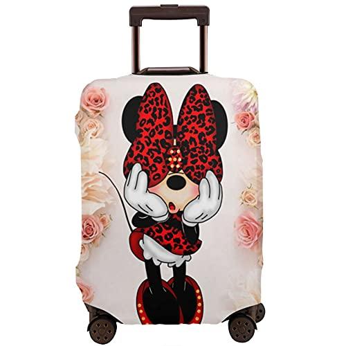 Funda protectora lavable con diseño de Mickey Minnie Mouse con estampado 3D, 4 tamaños para la mayoría de equipaje con cremallera