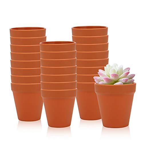 35 Inches / 24 pcs Plastic Plant Pots Gardening Containers Planters Perfect for Indoor and Outdoor Decoration Garden Kitchen Flower Succulents Yellow