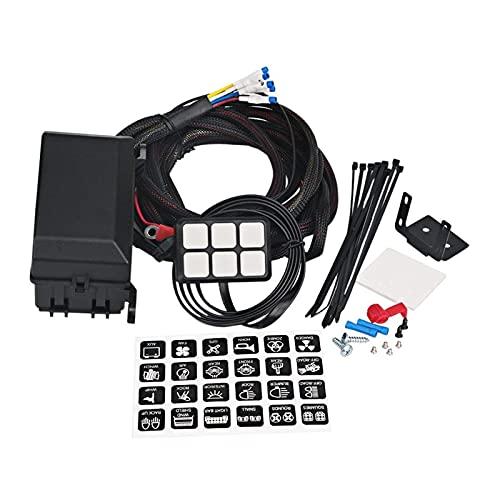 BRIGHTSUN XXshop 6 Panel de interruptores de pandillas Sistema de relé electrónico Caja de Control de circuitos a Prueba de fusibles Relé de relé de cableado Ajustes de arnés Ajuste para automóvil AU