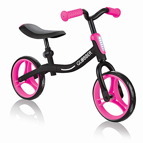 Globber GO Bike - Correa para jóvenes Unisex, Color Negro y Rosa, Altura Ajustable