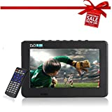 Digital TV, Portable TV with Freeview DVB-T-T2 Built-In Rechargeable Battery, 16:9 Portable TFT-LED