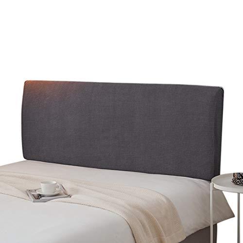 Renhe - Cabecero de cama elástico y resistente al polvo, suave y elástico, color gris, 180 cm