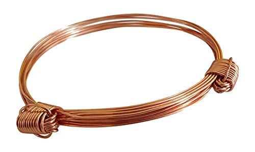 Jewellers hand Ltd Pulsera de pelo de elefante de cobre