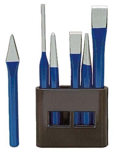 ORION burin acier chrome-vanadium - 6 pièces dans support avec socle