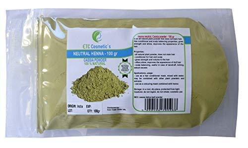 Poudre de Cassia Obovata (Henné neutre, poudre de cassia) - 100 gr - A des propriétés...