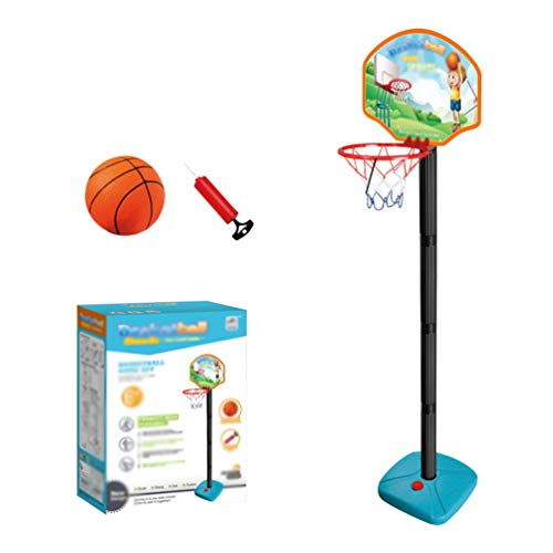 YuanDian Kinder Basketballkorb Portable Verstellbarer Basketballbrett 110-175cm Basketballständer Drinnen Outdoor Garten Freistehend Mini Basketballkörbe Boards Basketballanlage Set 125cm 1 Ball
