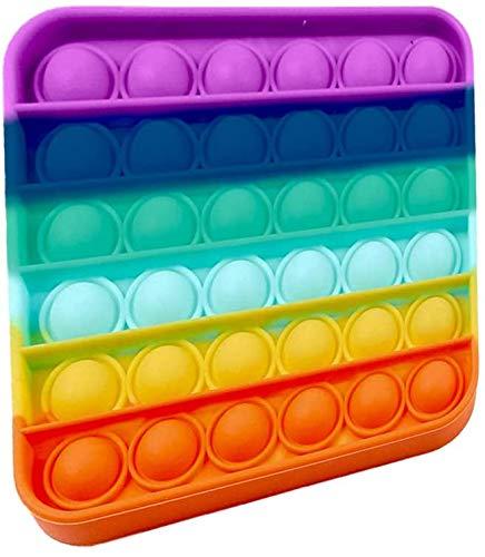 Pandiui23 Juguete Antiestrés Sensorial Juego Explotar Burbujas Autismo Ansiedad Fidget Niños Necesidades Especiales Relajante Adultos Original Divertido Push Pop Pop Bubble Game (M)