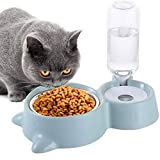 Ciotola Per Gatti Cani 2 in 1Ciotola Distributore D'acqua Per Animali Ciotole Da Cane A Doppio Gatto...