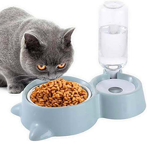 JCT Gato Perro Cuenco Tazones De Perro Gato Comedero De Agua Para Mascotas, 2 en 1, Para Gatos, Alimentador De Agua Para Mascotas, Cuenco De Alimentación Para Mascotas