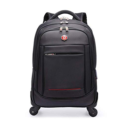 Wheeled Backpack Zaino Trolley leggero Cabina di viaggio Camping Borsa, Water Resistant Lightweight Laptop Zaino Borse, Borsa Computer Trolley in tessuto Oxford di affari Trolley Zaino a doppio uso de