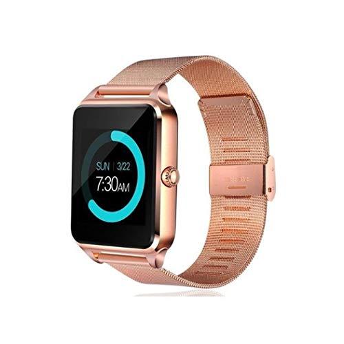 Teaio Smartwatch Fitness Reloj Inteligente Reloj de Pulsera Bluetooth Smart Watch Fitness Tracker Sport Reloj con cámara podómetro Monitor de sueño Romte Capture Compatible con iPhone Android móvil