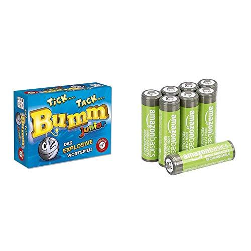 Tick Tack Bumm Junior & AmazonBasics AA-Batterien mit hoher Kapazität, wiederaufladbar, vorgeladen, 8 Stück (Aussehen kann variieren)