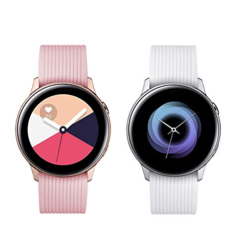 Aimtel Compatible Samsung Galaxy Watch (42mm) Bands, 20mm Soft Silicone Sport Band Replacement Strap with Pin Compatible Samsung Galaxy 42mm Watch(White)