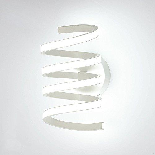 Applique LED moderne Plafonnier spirale intérieur design Lampe murale éclairage mural Lampe Plafonnier 20 W Blanc Gel de silice Abat-jour 30 cm * 19 cm Warmes Licht