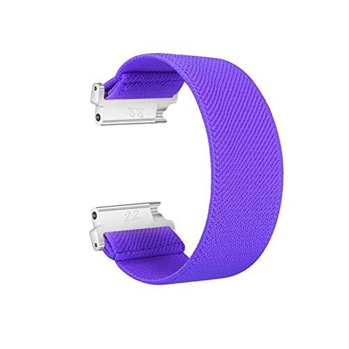 SGGFA Correa de nailon elástico para reloj Samsung Galaxy Watch Active2 de 18 mm, 20 mm, 22 mm, nailon colorido para pulsera de reloj Huawei (color de la correa: morado, ancho de la correa: 20 mm)
