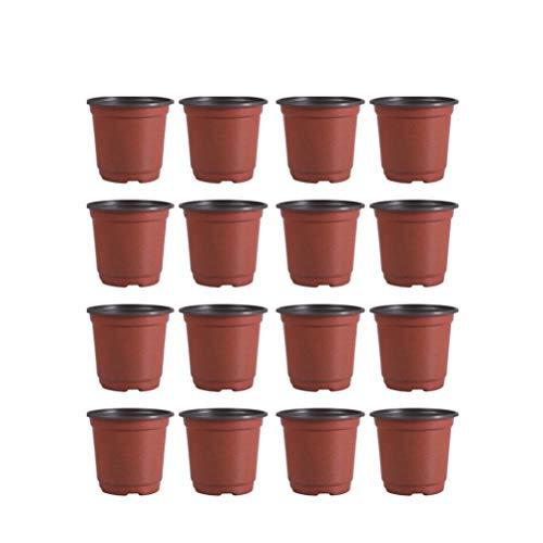 DOITOOL 30 Pezzi Vasi di plastica per Piante per La Semina di 15 cm Vasi da Fiori Contenitore per Piante da Vaso per Semi (Diametro 150mm)