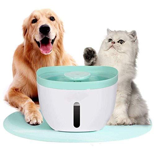 Futterautomat Pet Smart-Trinkwasser-Maschine, Katze und Hund Trinkwassertank Zirkulationsfilter, Sauerstoffspeicher-Wasseraufbereitungssystem 2L Pet Partner, Haustier-Brunnen, Weiß Nizza aquarium