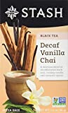 Stash Tea Decaf Vanilla Chai Tea, Individual Decaffeinated Black Tea Bags for Use in Teapots Mugs or Cups, Brew Hot Tea or Iced Tea, 18 Count, Pack of 6