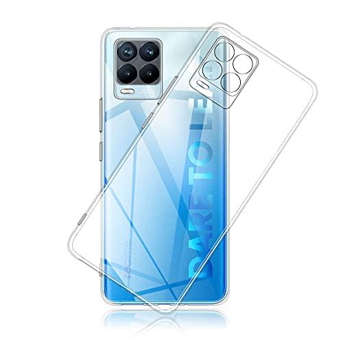 Aerku Hülle für Realme 8/8 Pro 5G,[Kratzfest] [Anti-Fall] [Stoßdämpfung] Ultra-dünne TPU Silikon Gel-Abdeckung Transparent Hülle Handyhülle für Realme 8 Pro 5G[Transparent]