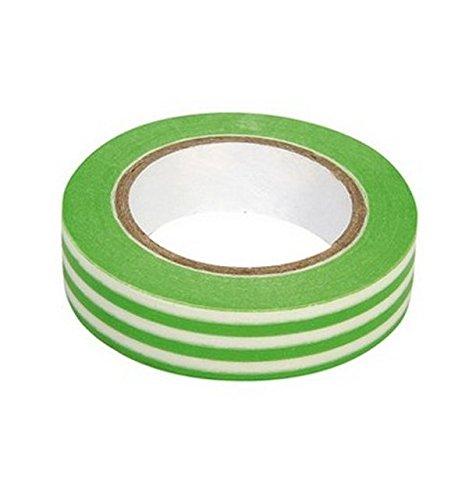 Ray - Washi tape à rayures blanc et vert anis