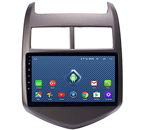 ADMLZQQ Android 10 Coche EstéReo Radio GPS NavegacióN para Chevrolet Aveo Sonic 2011-2013 9 Pulgadas Pantalla TáCtil Car Media Player,con WiFi/SWC + CáMara Trasera,4GWifi 2+32
