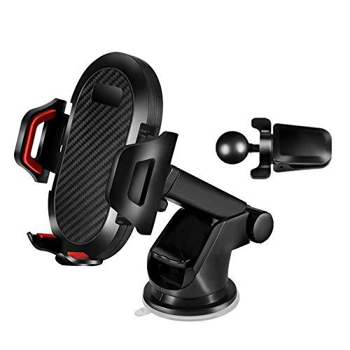 360度回転可能 車載ホルダー スマホ オートホールド式 車 スマホホルダー スマホほるだー スマホスタンド 携帯ホルダー バイク スマホ ホルダー 伸縮アーム 粘着ゲル吸盤 取り付け簡単 片手操作 多機種対応 (黒)