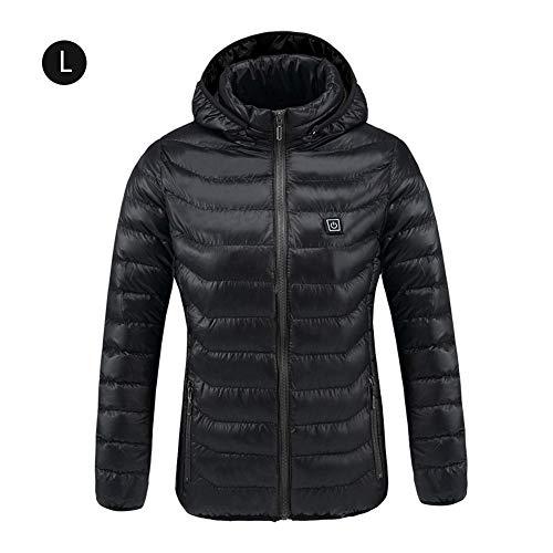 Chaqueta de trabajo térmica calefactable,Rock eléctrico calefacción chaqueta de ropa con de Batería recargable Banco de alimentación recargable, caliente invierno ropa de abrigo, interfaz USB,