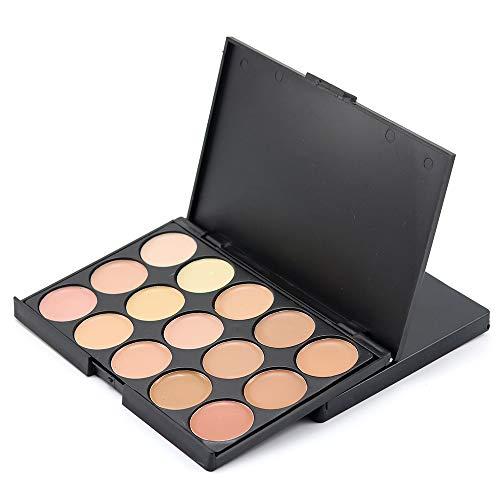 zroven Popfeel 15 Farben Cosmetic Foundation Gesichtscreme Professional Camouflage Concealer Palette Gesicht Contour Beauty Make-up-Paletten