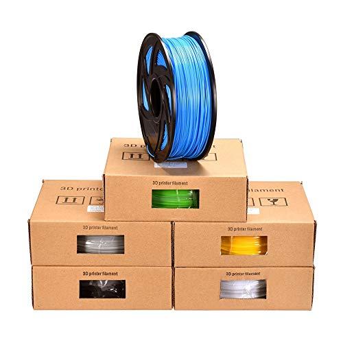 FAN-MING-N-3D, filamento PLA in plastica per Penna 3D, filamento PLA, 1,75 mm, 1 kg, Materiale per Stampa 3D, estrusore Penna Impresora Transparent Orange