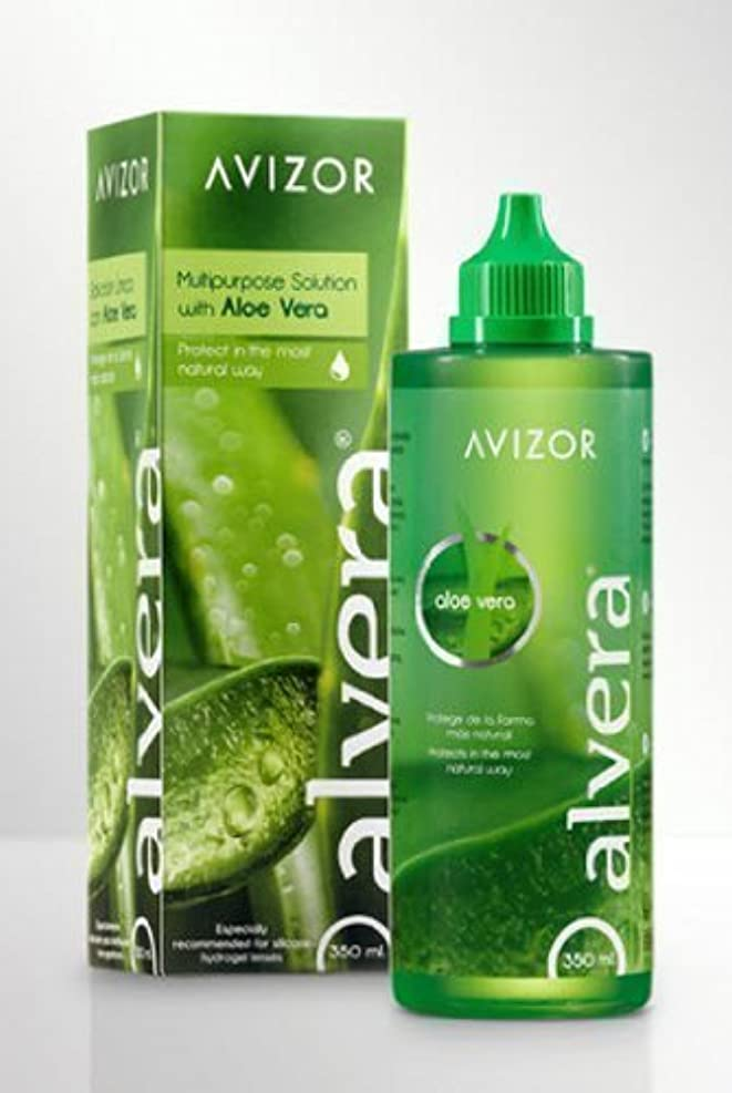 モネ地平線拮抗するAlvera multipurpose contact lens solution with Aloe Vera 350ml by Avizor [並行輸入品]
