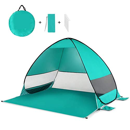 GOOHEAL Uv-Protective Automatic Opening Tent, Beach Tents Outdoor Camping Shelter Shade Ultralight Pop Up Tent For Outdoor Party Fishing