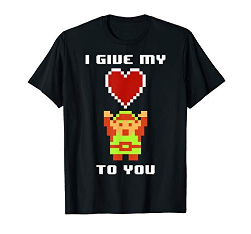Legend of Zelda 8 Bit Color My Heart To You Graphic T-Shirt