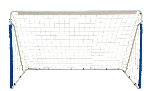 Northern Stone Cage de but de football de jardin portable avec cadre en acier 2,4 x 1,5 m