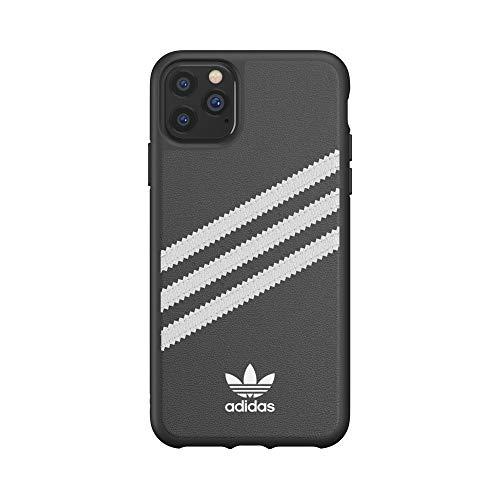 adidas, Originals, Smartphoneschutzhülle, kompatibel mit iPhone 11 Pro Max, Handy-Schutzhülle aus thermoplastischem Polyurethan (TPU), mit DREI Streifen, Farben: schwarz und weiß