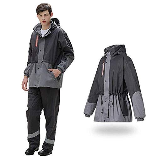 Gjrff Moto Impermeabile Diviso Impermeabile Giacca a Vento Manto Impermeabile Adulto Giacca Abbigliamento Sportivo Donna Vestito da Uomo Impermeabile Esterna Impermeabile in Sella (Size : XXXL)