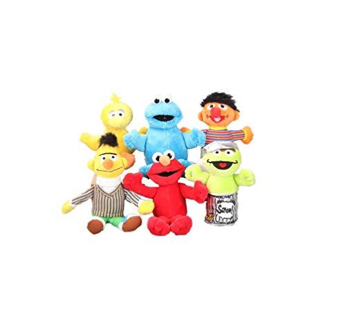 Intervic Pack 6 Llaveros Peluches muñeco de Felpa Los Teleñecos Plaza Sesamo 13cm a 18cm Kermit Peluche de Animal Suave Adorable Regalo Juguetes para niños y niñas