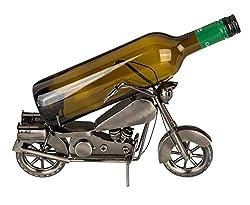 Out of the Blue 71/3170 - Flaschenhalter aus Metall, Motorrad I, ca. 31 x 17 cm, ideal als Deko und Geschenkverpackung