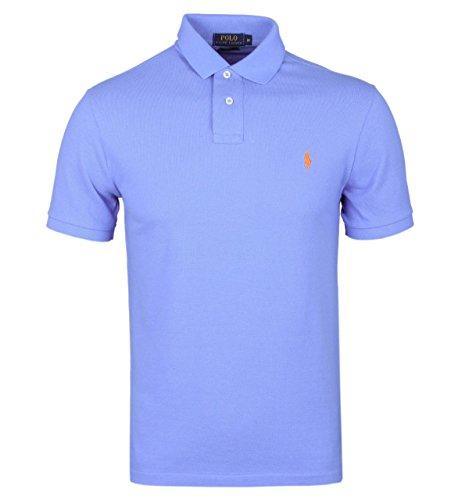 Ralph Lauren Herren Poloshirt, Einfarbig Gr. Large, hellblau