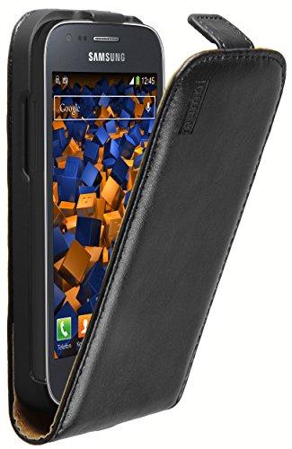 mumbi Flip Case Compatible con Samsung Galaxy Ace 3, Negro