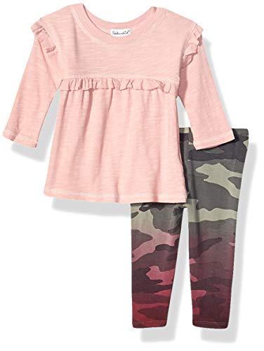 Splendid Baby Girls Long Sleeve Legging Set, Smokey Rose - Infant, 6/12 mo