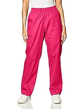 Dickies Women s Signature Elastic Waist Scrubs Pant Hot Pink XXX-Large