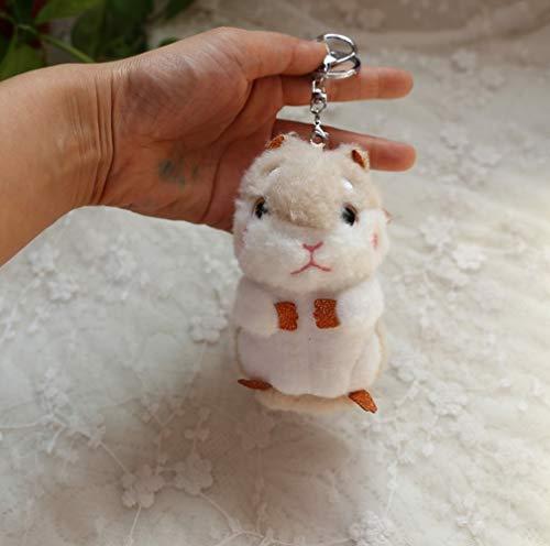Gasfja Hamster Schlüsselbund Plüsch Puppe Schlüsselanhänger Liebhaber Taschen Großer Anhänger Kindergeschenke (C)
