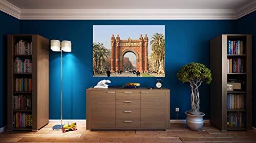 G1 | Cuadro Barcelona Arco Triunfo | Fabricado en PVC Forex 5 MM | Medidas 100cm x 70cm | Fácil colocación | Diseño Elegante | Impresión Digital (1 Unidad)