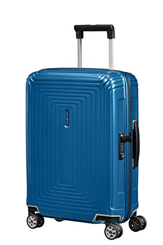 Samsonite Neopulse - Spinner S (Ancho: 20 cm) Equipaje de Mano, 55 cm, 38 L, Azul (Metallic Intense Blue)