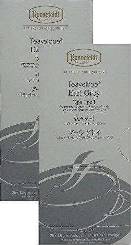 Ronnefeldt-Teavelope -2er Pack- Earl Grey - Aromatisierter Schwarzer Tee - 2x25x1,5g Teebtl